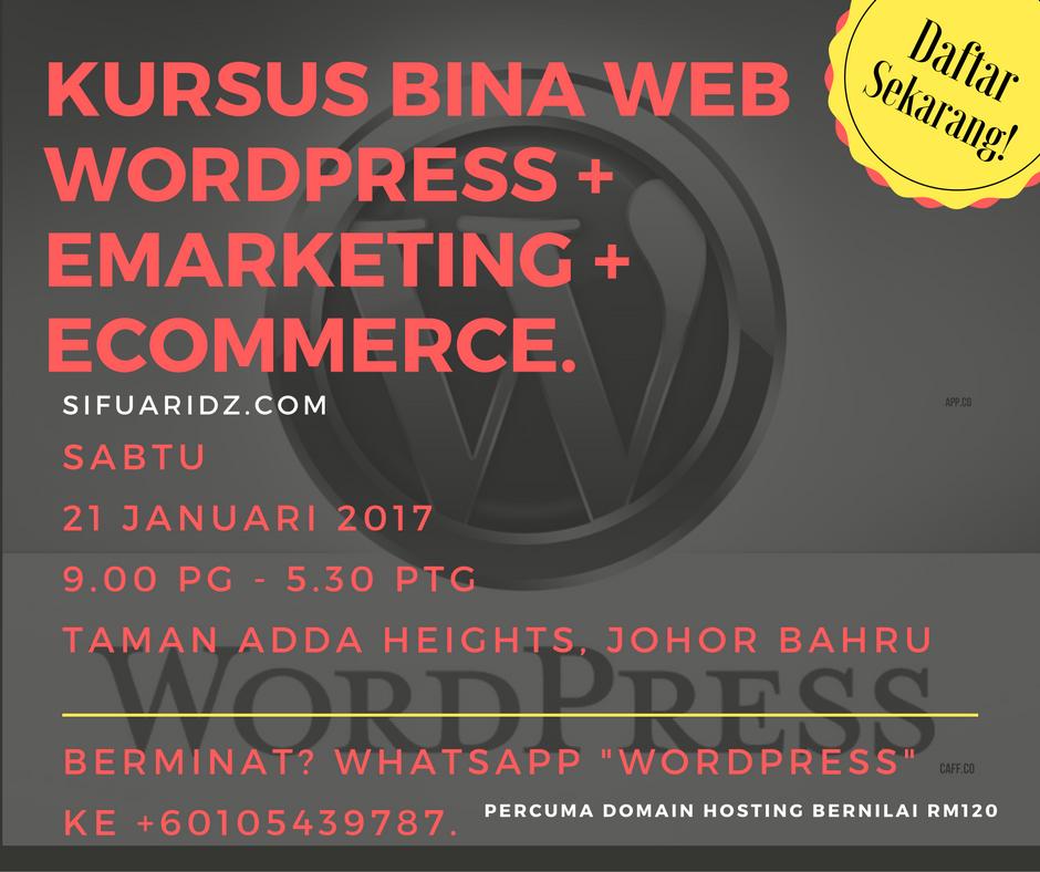 kursus-wordpress-johor-bahru